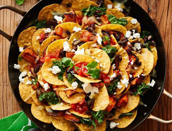 Roasted Vegetable and Black Bean Nachos_card