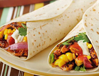 Charred Chicken & Corn Fajitas Recipe
