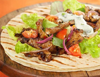Lamb Fajitas with Minted Yoghurt Recipe