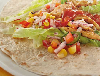 Seared Chicken & Corn Burritos Recipe