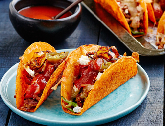 Baked BOLD Tacos with Pork and Beef Mince