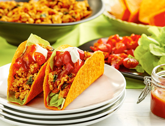 BOLD Tacos with Chicken and Lime Sour Cream