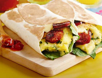 Breakfast Burritos with Chorizo Recipe