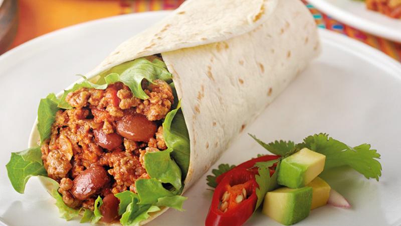 Chili Con Carne Burritos Recipe