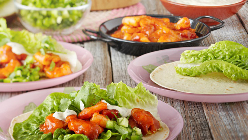 Chili Prawn and Salsa Soft Tacos Recipe