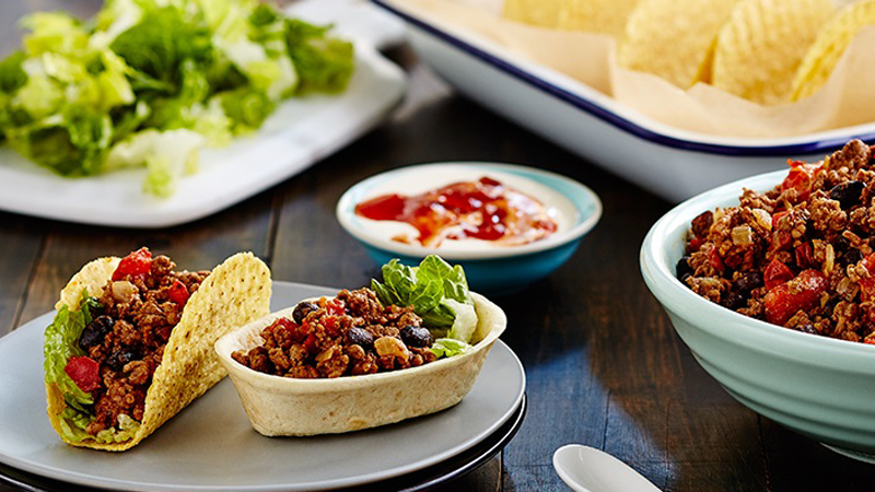 Easy Chili Con Carne Hard and Soft Mini Tacos