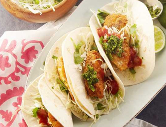 Fish Soft Tacos with Fresh Green Chili Sauce Recipe