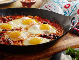 Huevos Rancheros Recipe (Breakfast Soft Tacos with Mexican Baked Eggs)