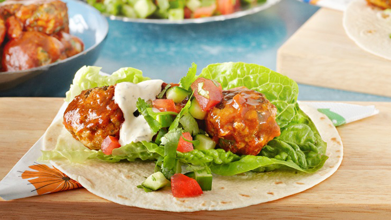 Meatballs & Salsa Soft Tacos Recipe