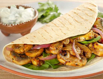 Mushroom Fajitas with Sour Cream Recipe