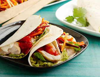 Quick & Easy 10 Minute Soft Tacos with BBQ Chicken & Slaw Recipe