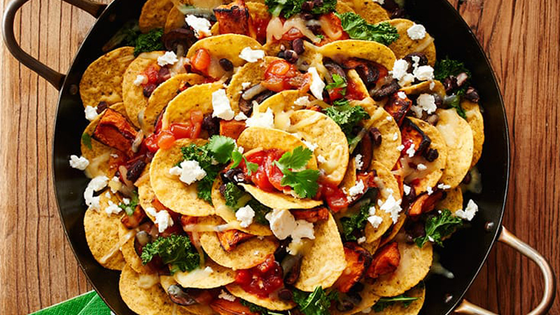 Roasted Vegetable and Black Bean Nachos_Hero