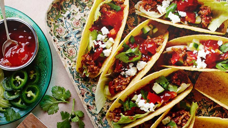 Simple Chili Beef Tacos with Fresh Tomato Salsa Recipe