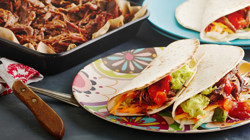 Slow Cooked Shredded Beef Soft Tacos Recipe