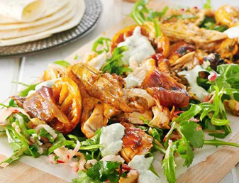 Slow Roasted Chicken and Rocket Soft Taco Recipe