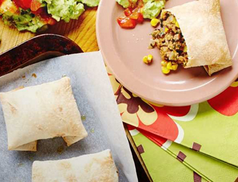 Super Easy Beef & Cheese Chimichangas with Simple Guacamole Recipe