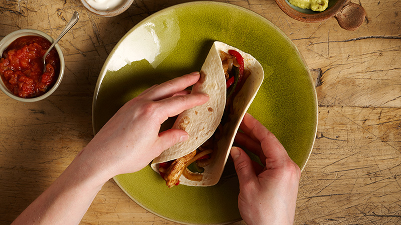 How to fold Fajita